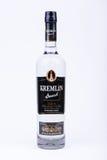 BURGAS, BULGARIA - AUGUST 4, 2016: A bottle of russian vodka Kremlin Award Grand Premium Vodka 0,7 L 40%, illustrative editorial, Royalty Free Stock Photos