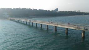 Burgas Bulgaria. Bridge beach sunnyday Royalty Free Stock Image