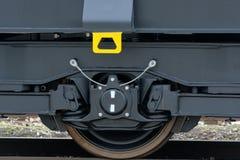 Burgas, Bulgarije - Januari 24, 2017 De trein van de vrachtlading - bla Stock Afbeelding