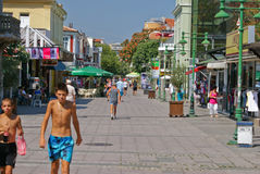 Burgas city street view Stock Photography