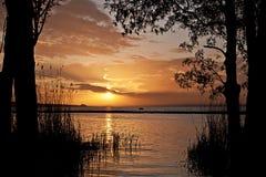 Burgas lake Arkivfoto