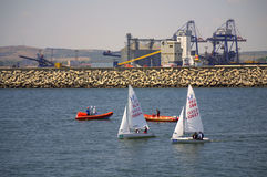 Burgas port boats Royalty Free Stock Photos