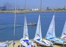 Burgas portu łodzie Obraz Stock