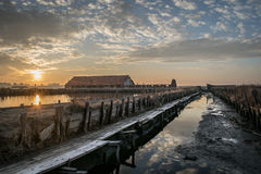 Burgas salt mines from next view Stock Image