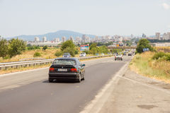 Burgas: view from the highway Sofia, Bulgaria Royalty Free Stock Photo