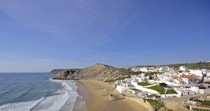 Burgau in the Algarve in Portugal Stock Photo