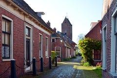 Burgemeester Brouwersstraat w Garnwerd Fotografia Royalty Free