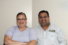 Burgemeester Guanica Puerto Rico en vrouw van Yomo Toro Stock Foto