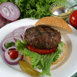 burger άλκες Στοκ Φωτογραφίες