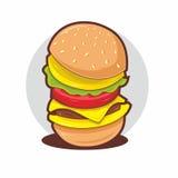 Burger έμβλημα Στοκ Εικόνες