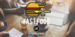 Burger γρήγορου γεύματος take-$l*away έννοια θερμίδων γεύματος παλιοπραγμάτων Στοκ Φωτογραφίες
