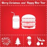 Burger διάνυσμα εικονιδίων σόδας Στοκ φωτογραφίες με δικαίωμα ελεύθερης χρήσης
