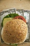 burger δολάριο Στοκ εικόνα με δικαίωμα ελεύθερης χρήσης