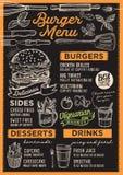 Burger εστιατόριο επιλογών, πρότυπο τροφίμων Στοκ φωτογραφία με δικαίωμα ελεύθερης χρήσης