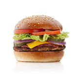 burger εύγευστο Στοκ εικόνα με δικαίωμα ελεύθερης χρήσης