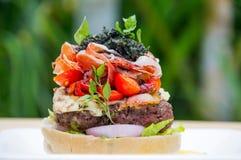 Burger ζαμπόν της Πάρμας Στοκ Εικόνες