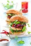 burger κοτόπουλο Ταϊλανδός Στοκ Φωτογραφία
