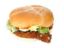 burger κοτόπουλο Στοκ Φωτογραφία