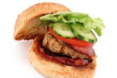 burger κοτόπουλο Στοκ εικόνα με δικαίωμα ελεύθερης χρήσης