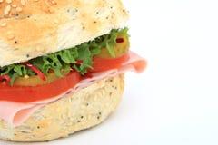 burger κουλουριών ψωμιού σάντ&omic Στοκ εικόνα με δικαίωμα ελεύθερης χρήσης
