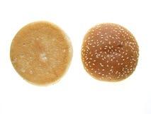 burger κουλουριών Στοκ Εικόνες