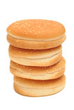 Burger κουλούρια Στοκ Εικόνες