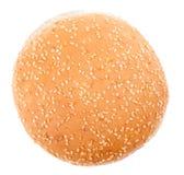 Burger κουλούρι Στοκ Εικόνες