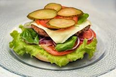 Burger μαγειρέματος έννοια Στοκ Εικόνα