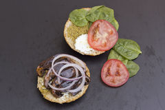 Burger μανιταριών Portobello Στοκ φωτογραφίες με δικαίωμα ελεύθερης χρήσης