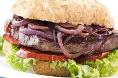 burger μπριζόλα Στοκ Εικόνες