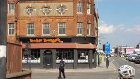 Burger ναρκωτικών ουσιών στο Hull στοκ εικόνα