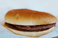 Burger πλήρες πρόσωπο με τα λαχανικά, καρυκεύματα στοκ εικόνες με δικαίωμα ελεύθερης χρήσης