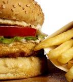 burger σειρά Στοκ Εικόνες