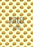 Burger σελίδα επιλογών Στοκ Φωτογραφίες