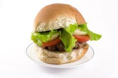 burger σπιτικό Στοκ φωτογραφίες με δικαίωμα ελεύθερης χρήσης