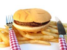 burger τηγανητά Στοκ φωτογραφίες με δικαίωμα ελεύθερης χρήσης