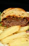 burger τσιπ Στοκ Εικόνες