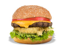 Burger τυριών Στοκ Φωτογραφίες