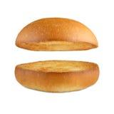 Burger χάμπουργκερ κουλούρι που απομονώνεται κενό στο λευκό Στοκ εικόνα με δικαίωμα ελεύθερης χρήσης