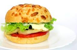 burger χορτοφάγο Στοκ Φωτογραφίες