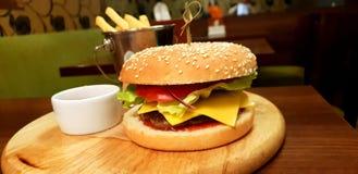 Burger ύφος στοκ φωτογραφία