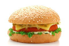 Burger. On a white background Royalty Free Stock Images