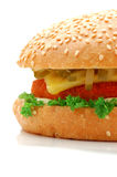 Burger. On a white background Stock Photo