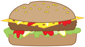 Burger. Isolated on white background Royalty Free Stock Photo