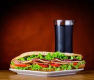 Burger με την κόλα Στοκ Εικόνες