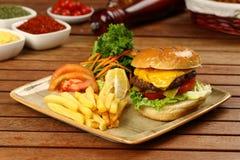 Burger Στοκ φωτογραφίες με δικαίωμα ελεύθερης χρήσης