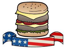 Burger america Royalty Free Stock Image