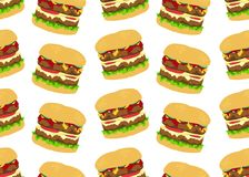 Burger background art Royalty Free Stock Image