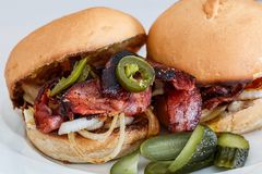 Burger, Bacon, Snack, Fast Food Stock Photo