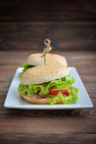 Burger with bacon Royalty Free Stock Photo